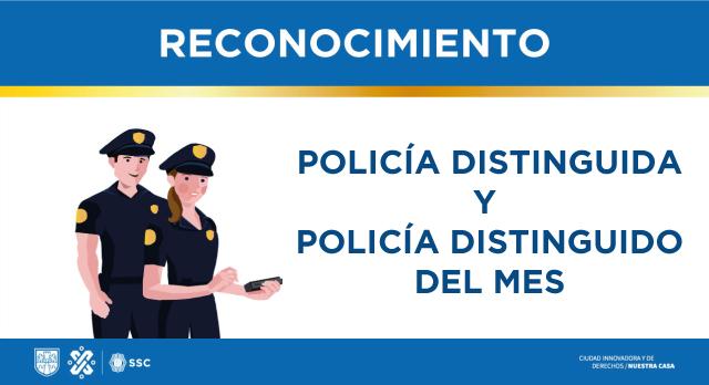 Policía distinguido del mes