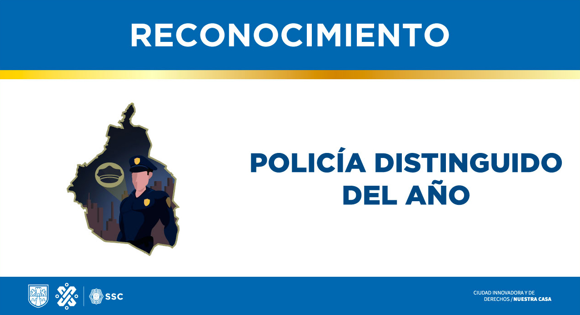 Policía distinguido del año